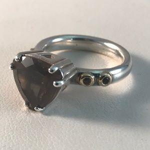 Pandora Hidden Romance Ring Smokey Quartz
